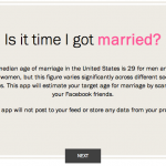 A New Marriage App?