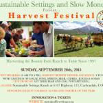 Harvest Festival September 20, 2015 @ Sustainable Settings!